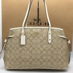 COACH Drawstring Carryall In Signature Canvas